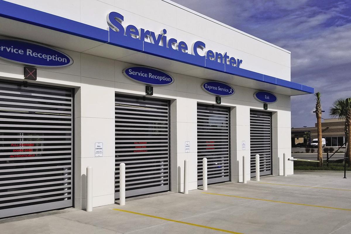High Speed Metal Garage Doors